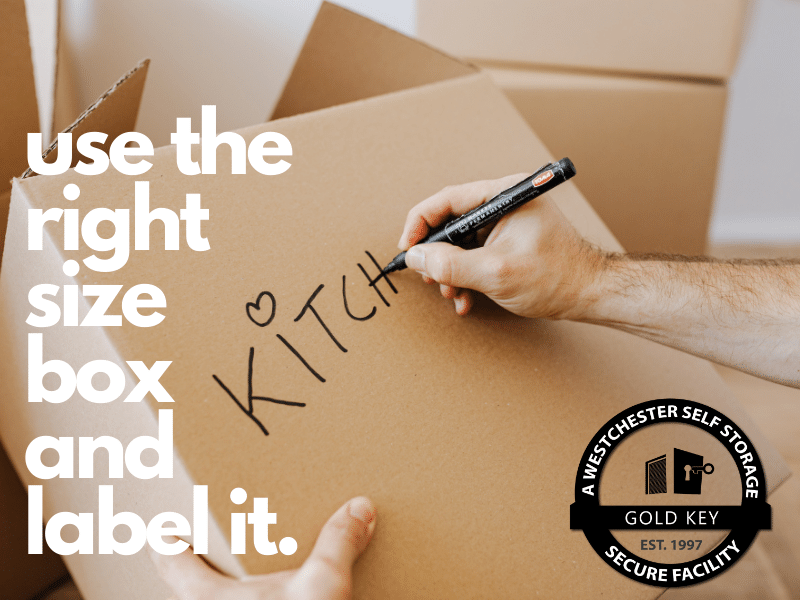 Storage Tips Mahopac Use The Right Sized Box